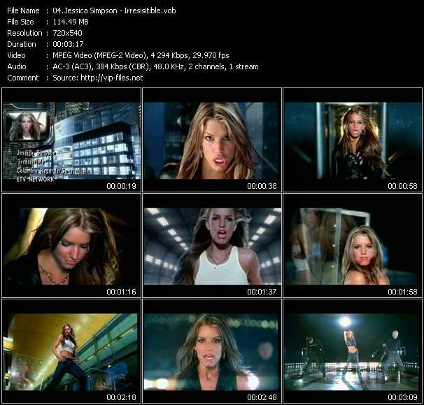 Jessica Simpson video screenshot