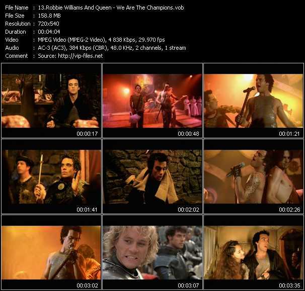 Robbie Williams And Queen video screenshot