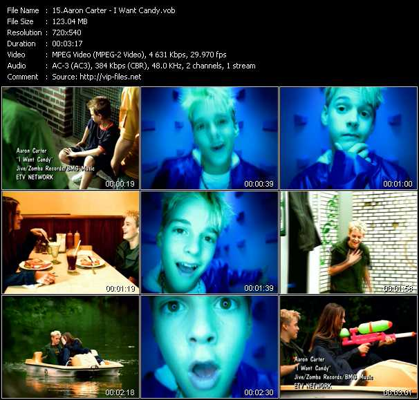 Aaron Carter video screenshot