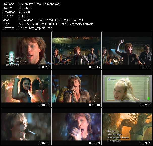 Bon Jovi video screenshot