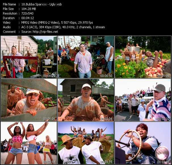 Bubba Sparxxx video screenshot