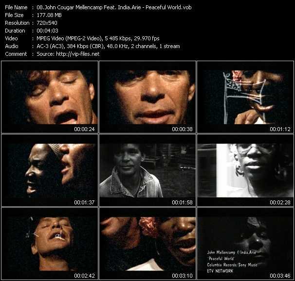 John Cougar Mellencamp Feat. India.Arie video screenshot