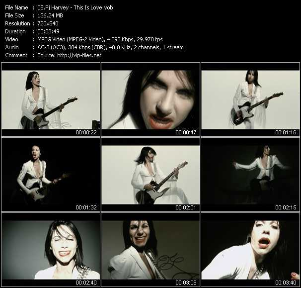 Pj Harvey video screenshot