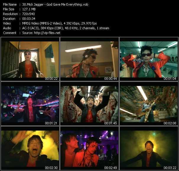 Mick Jagger video screenshot