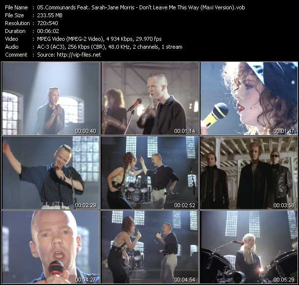 Communards Feat. Sarah-Jane Morris video screenshot