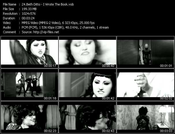 Beth Ditto video screenshot