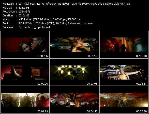 video Give Me Everything (Jump Smokers Club Mix) (VPS Video Mix) screen
