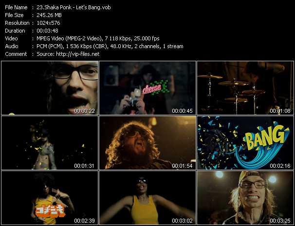 Shaka Ponk video screenshot