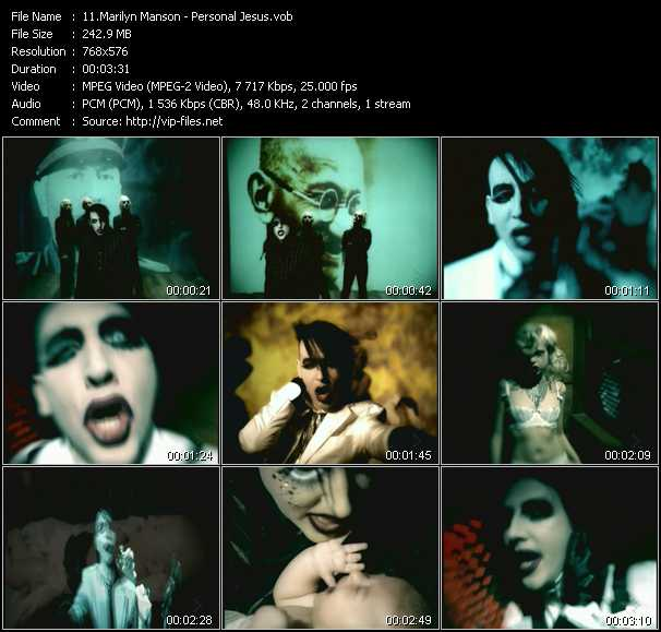 Marilyn Manson video screenshot
