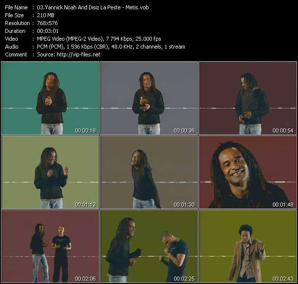 Yannick Noah And Disiz La Peste video screenshot
