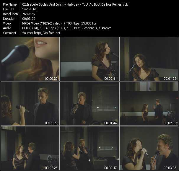 Isabelle Boulay And Johnny Hallyday video screenshot