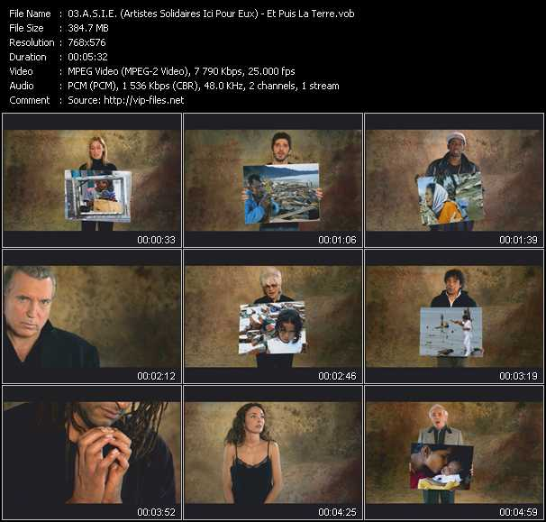 A.S.I.E. (Artistes Solidaires Ici Pour Eux) video screenshot