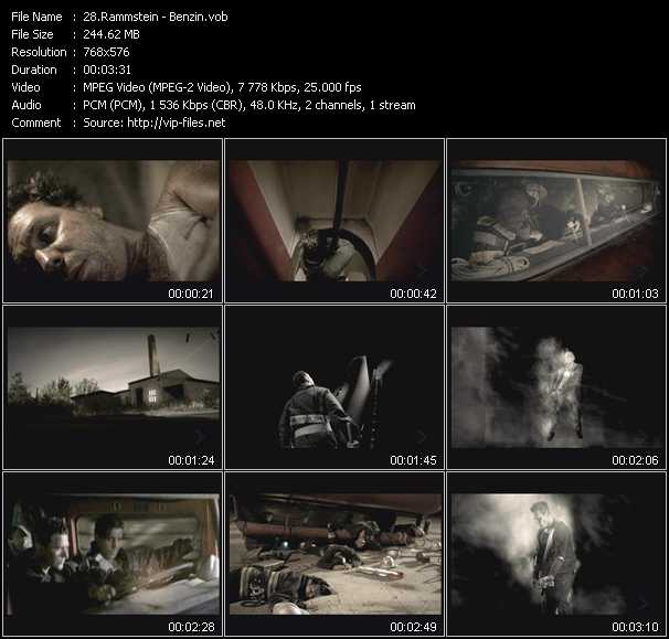 Rammstein video screenshot
