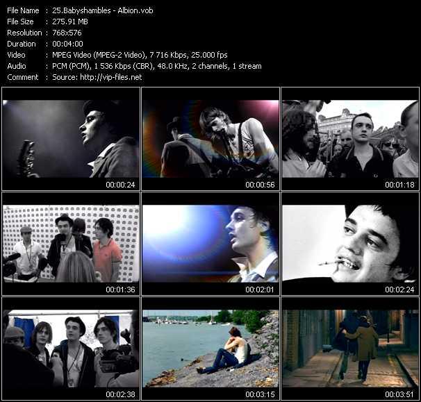 Babyshambles video screenshot