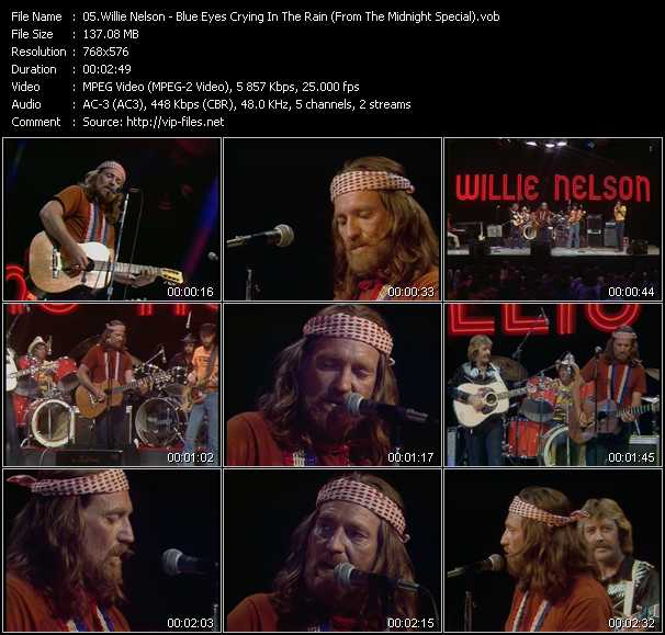 Willie Nelson video screenshot