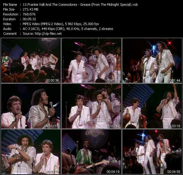 Frankie Valli And The Commodores video screenshot