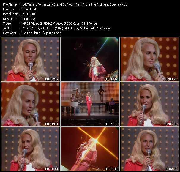 Tammy Wynette video screenshot