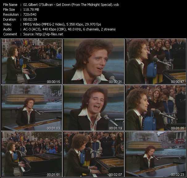 Gilbert O'Sullivan video screenshot