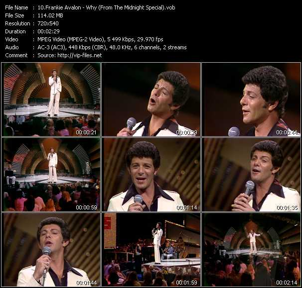 Frankie Avalon video screenshot