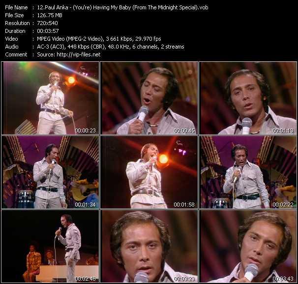 Paul Anka video screenshot