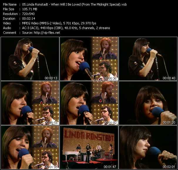 Linda Ronstadt video screenshot