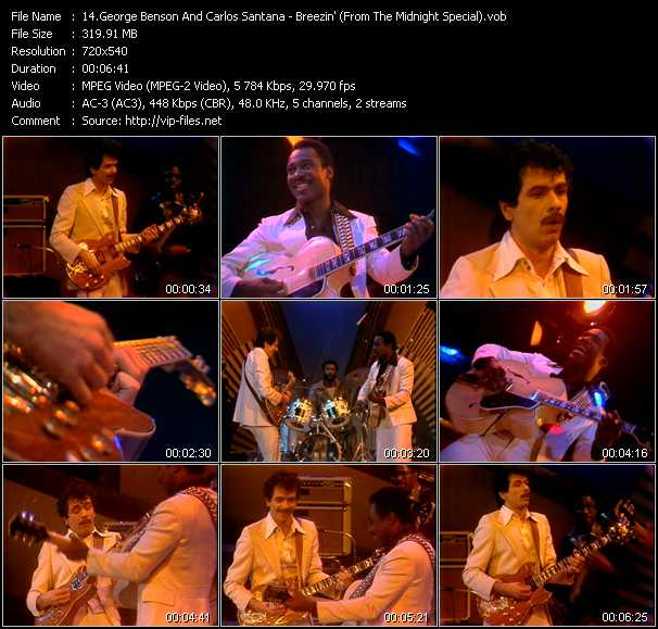George Benson And Carlos Santana video screenshot