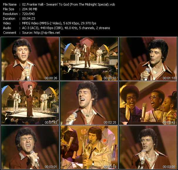 Frankie Valli video screenshot