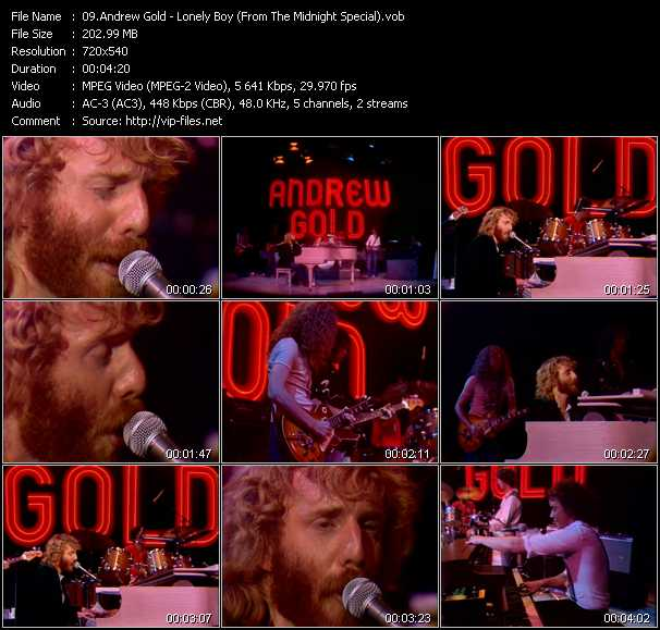 Andrew Gold video screenshot