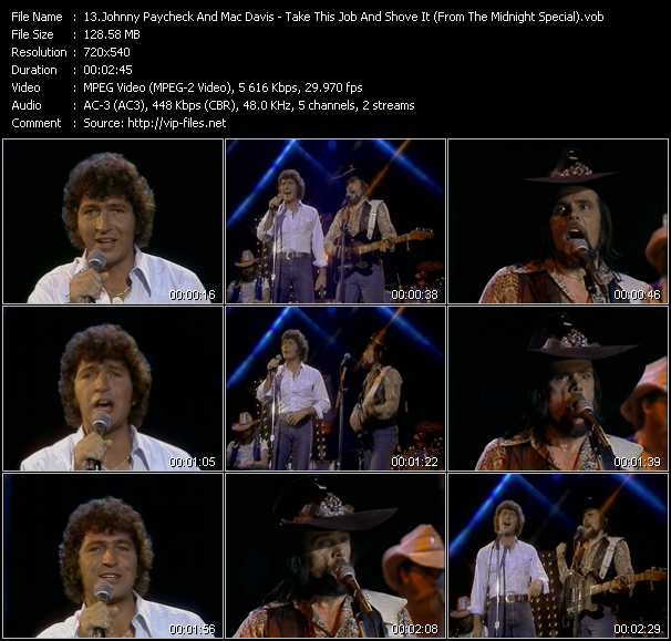 Johnny Paycheck And Mac Davis video screenshot