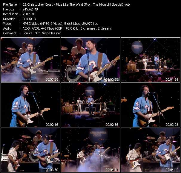 Christopher Cross video screenshot