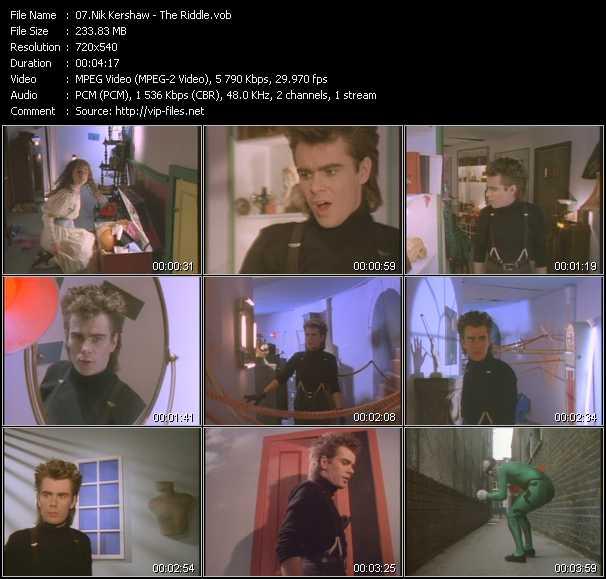 Nik Kershaw video screenshot