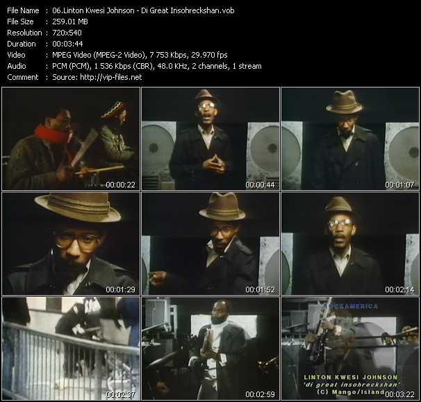 Linton Kwesi Johnson video screenshot