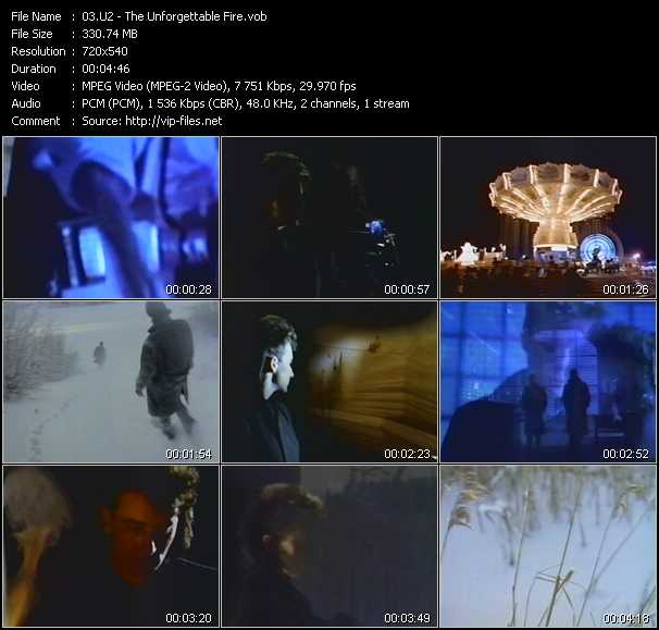 video The Unforgettable Fire screen