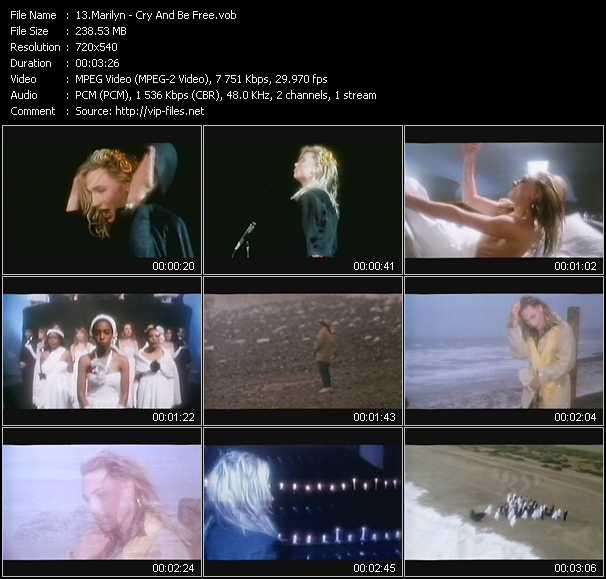 Marilyn video screenshot