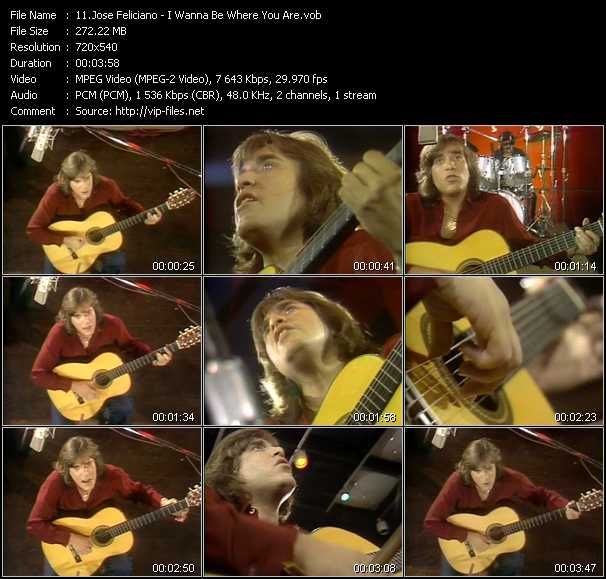 Jose Feliciano video screenshot