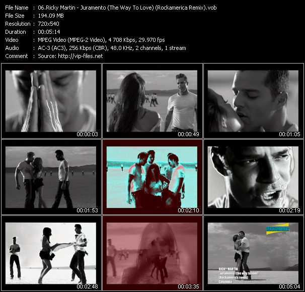 video Juramento (The Way To Love) (Rockamerica Remix) screen
