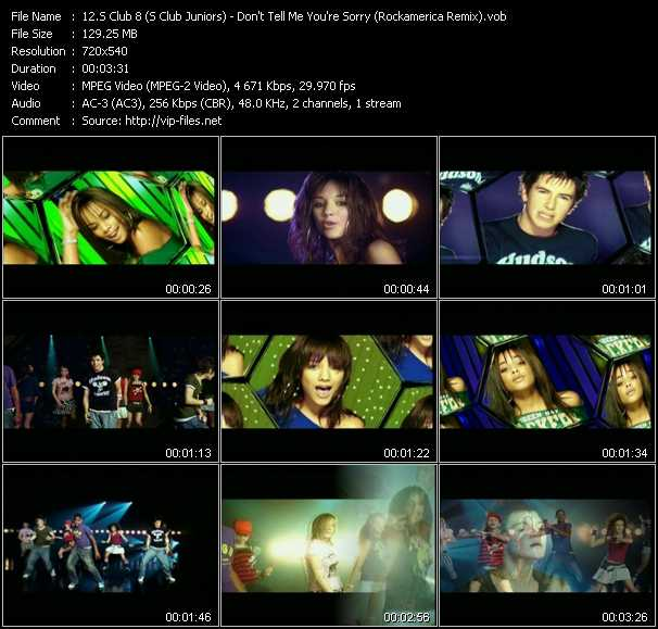 S Club 8 (S Club Juniors) video screenshot
