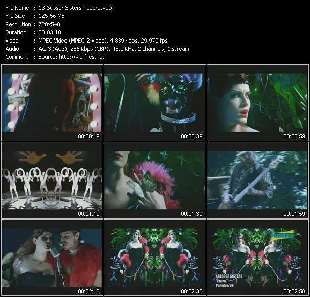 Scissor Sisters video screenshot