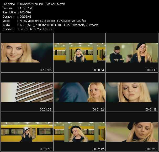 Annett Louisan video screenshot