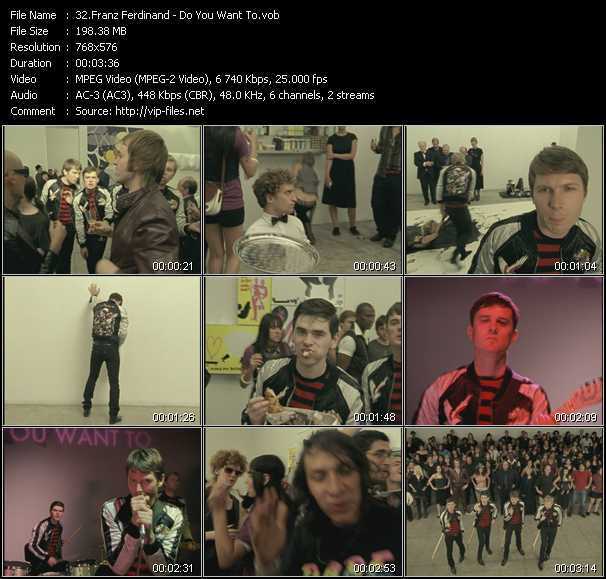 Franz Ferdinand video screenshot
