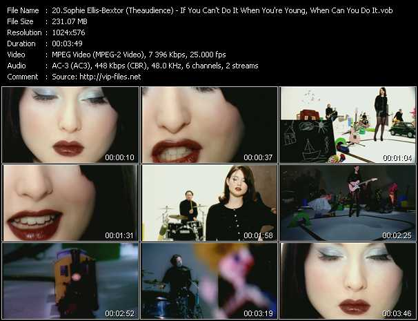 Sophie Ellis-Bextor (Theaudience) video screenshot