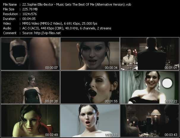 Sophie Ellis-Bextor video screenshot