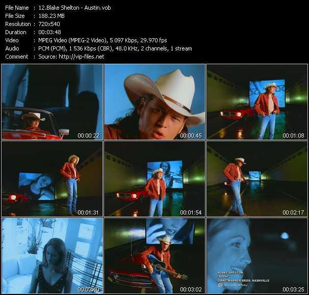 Blake Shelton video screenshot