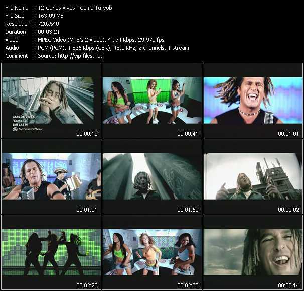 Carlos Vives video screenshot