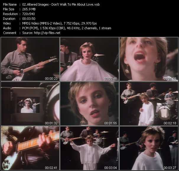 Altered Images video screenshot