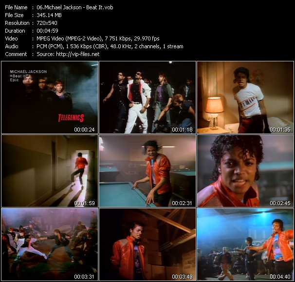 video Beat It screen