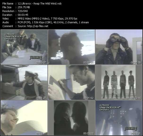 Ultravox video screenshot
