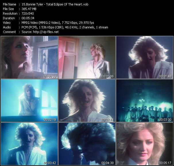 Bonnie Tyler video screenshot