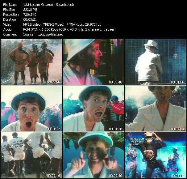 Malcolm McLaren video screenshot