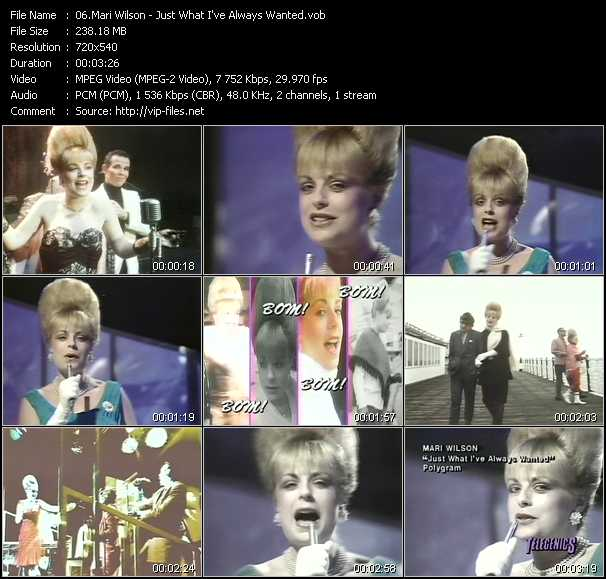Mari Wilson video screenshot